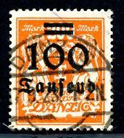 Danzig MiNr. 159 gestempelt geprüft Infla (Q11182