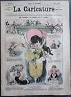 Albert ROBIDA Journal LA CARICATURE N°14 1880 Couv. Couleur Vacances de Pâques