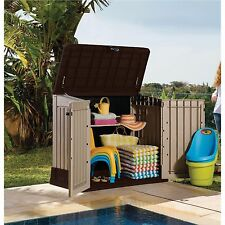 Outdoor Storage Cabinet Garden Shed Backyard Building Pool Utility Garage New