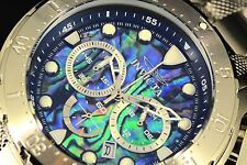 Invicta 52mm Coalition Forces Chronograph Abalone Dial 18k Gold Plated SS Watch