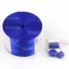 3.8M Blue Nylon Car Seat Belt Webbing Car Modified Safety Belt Car Accessories