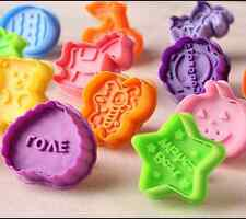 Soft Silicone Cookie Biscuit Cutter Stamp Mold Fondant Cake Sugar Craft 1 Pcs TH