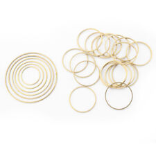 40Pcs Raw Brass Open Round Circle Charms Pendants DIY Jewellery Necklace Earring