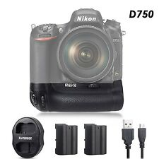 MEIKE D750 Battery Grip Pack as MB-D16 for Nikon D750 + 2* EN-EL15 ,Dual charger