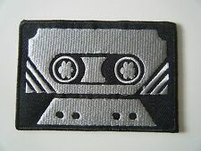 CASSETTE TAPE PATCH Embroidered Iron On Badge RETRO HIPSTER MUSIC DECK HIFI NEW