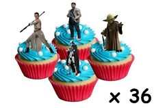 36 Star Wars STAND UP Cupcake Fairy Toppers Edible Rice Paper Decorations