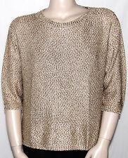 NEW INC International Concepts PLUS 3X GOLD 3/4 Dolman Sleeve Metallic Sweater