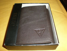 MEN'S BROWN GUESS  WALLET NEW IN BOX