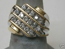 Gents Diamond Cluster Ring Yellow Gold  (794)