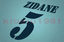 Real Madrid Zidane #5 2001-2003 Homekit Nameset Printing