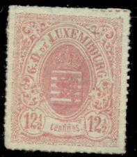 LUXEMBOURG #20, 12-1/2 carmine Coat of Arms, unused no gum, Scott $140.00