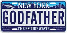 """Godfather"" New York NY Novelty License Plate"