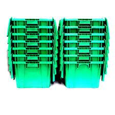 "(Lot of 14) Buckhorn Plastic Totes w/ Attached Lids 27"" x 16-7/8"" x 12-1/2"""
