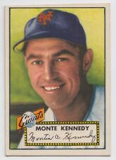 1952 TOPPS MONTE KENNEDY NEW YORK GIANTS CARD #124 TRIMMED