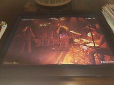 Janis Joplin Bill Graham Concerts Rare Original Promo Poster Ad Framed!