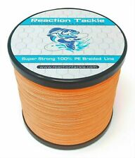 Reaction Tackle High Performance Braided Fishing Line / Braid - Hi Vis Orange