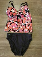 Speedo Women's Floral Tankini with Bottoms Swimsuit Size 10