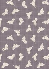 Cuarto gordo caído Westies perros de verificación Gris Cálido 100% algodón Quilting fabric