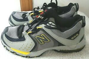 New Balance All Terrain Trail Running Shoes 809 M809AT Men's Gray Yellow Size 8