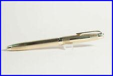 FEND Solid 585 ORO PENNA STILOGRAFICA 14k F MOLLA PISTONE Riempitore 1950 Mid Century Design Pen
