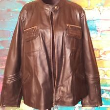 AVENUE Plus Size 3X Women Full Zip Black Genuine Leather Jacket Special Edition