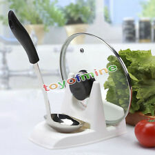 Spoon holder Pot Lid Shelf Cooking Tools Storage Kitchen Decor Tool Stand XW