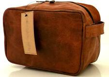 Men's Leather Handmade Toiletry Bag Handbag Shaving Organizer Eco-Friendly