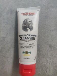 Thayers 4 oz Lemon Blemish Clearing Cleanser Witch Hazel 2% Salicylic Acid acne
