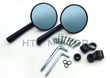 Blue Round CNC Rearview Side Mirrors For BMW KTM Motorcycles 10mm 8mm