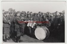 (F11501) Orig. Foto Tolne i. Dänemark, Wehrmacht-Soldaten Musik-Korps 1944