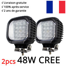 """2x 48W 4"""" CREE luminaire LED Phare LED Travail projecteur Jeep voiture SUV 4WD"""