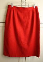 Sag Harbor Women's Size 14 Skirt 100% Wool Red Fully Lined Knee-Length Career