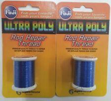 2-Fuji Ultra Poly Metallic 100M Spool Royal Blue Rod Bld Thread 2 Pack Mta-901C