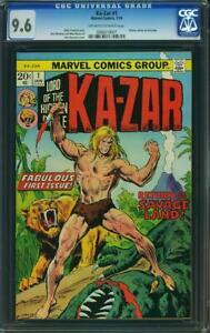Ka-Zar # 1 CGC 9.6 -- 1974 -- 1st Issue.  Return of the Savage Land #0968219007