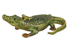 RUCINNI Alligator Jeweled Trinket Box
