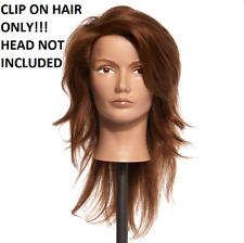 NEW Clair Full Increase Human Mannequin Hair Pivot Point Snap Caps Un-Cut