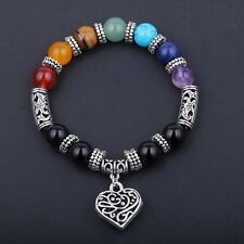 Women Jewelry 7 Chakra Beaded Bracelet Yoga Reiki Healing 8mm Natural Stone