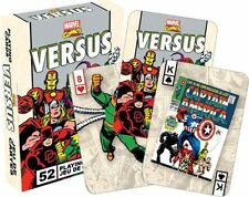 MARVEL VERSUS RETRO - PLAYING CARD DECK - 52 CARDS NEW - COMICS 52325