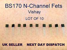 Qty 10 : N-Channel Enhancement Field Effect Transistor, Low Power FET BS170