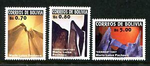 Bolivia 1188-1190, MNH. Art by Maria Luisa Pacheco, 2002. x39711