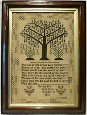 More details for early 19th century tree of life & quotation sampler by martha beer - c.1835