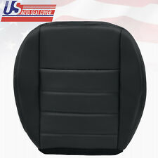 2008 Dodge Charger SXT Driver Bottom Replacement Leather Seat Cover Dark Gray