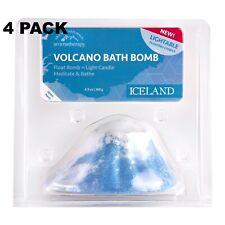 4PK Village Naturals Aromatherapy Iceland Lightable Bath Bomb 4.9oz 20% Off