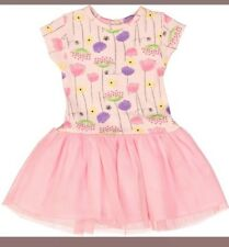 Girls Chloe Luise Pink Floral Tutu Cotton Dress For Newborn Baby