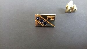 Vintage 14CT Gold Blue Stone Set Tie Pin O C Tanner