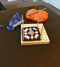 Small Crochet Blocking Board. Handcrafted  from solid wood