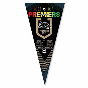 Penrith Panthers 2021 Premiers Wall Pennant **In Stock ready to Ship Now.**