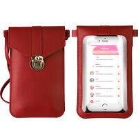 Touch Screen Cross-Body Cell Phone Purse Bag Shoulder Strap Pouch Wallet Women