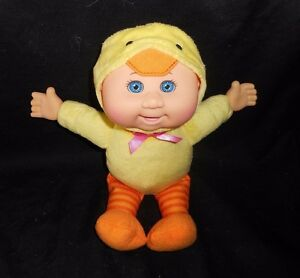 "11"" CABBAGE PATCH CUTIES KIDS BABY YELLOW DUCK STUFFED ANIMAL PLUSH TOY DOLL"