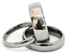 Tungsten Carbide Men Women Silver Wedding Engagement Ring  Polished Comfort Fit